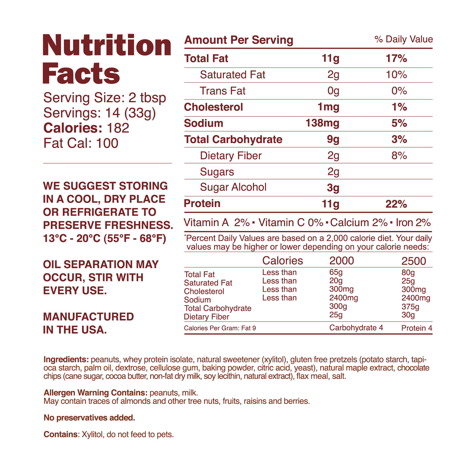 nutrition-facts-chocolate-Maple-pretxel-peanut-butter-nuts-n-more