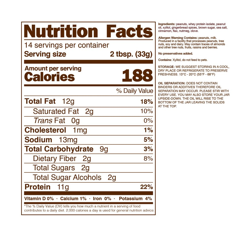 nuts ginger_bread_high_protein_peanut_butter-nutrition-facts-nuts-n-more_1024x1024